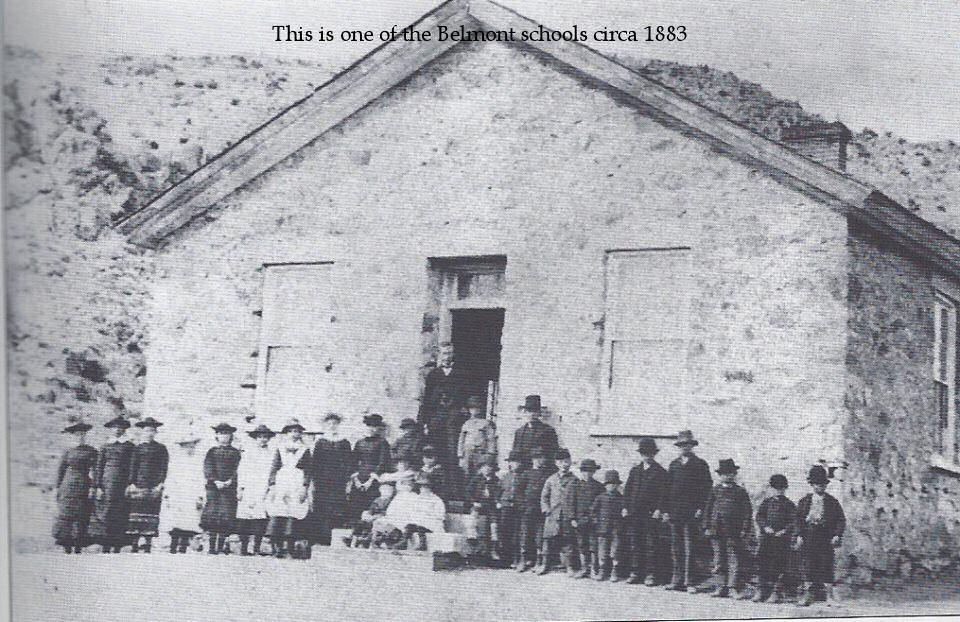 One of the Belmont Schools, Belmont Nevada 1883