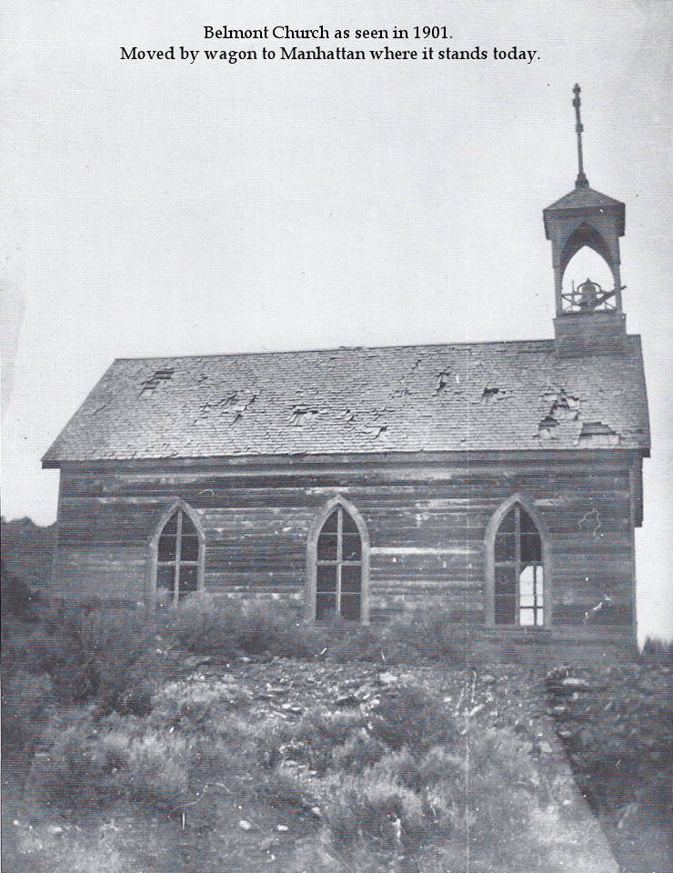 Belmont Church as seen in 1901
