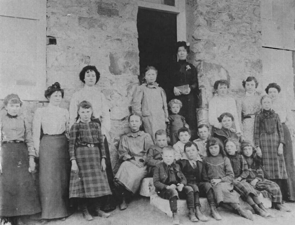 Belmont students -- 1900ish -- 7 of 8 Logan Children